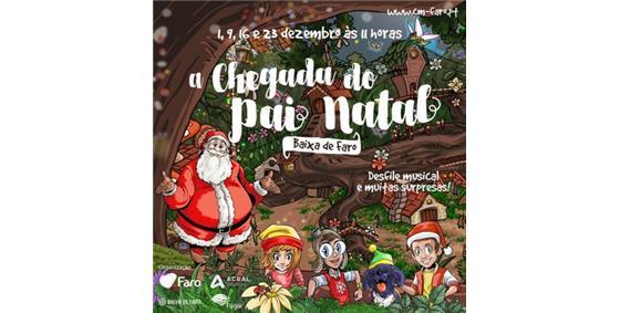 Chegada do Pai Natal em Faro