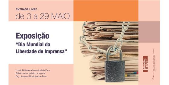 Exposição Dia Mundial da Liberdade de Imprensa